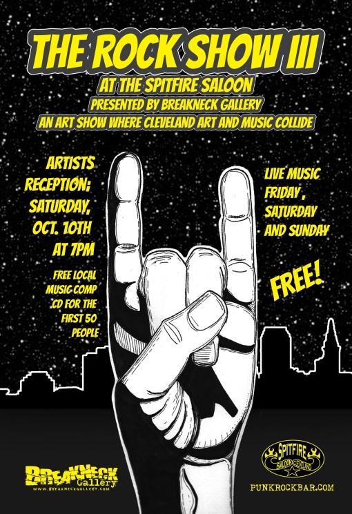 Spitfire rock Show Flyer